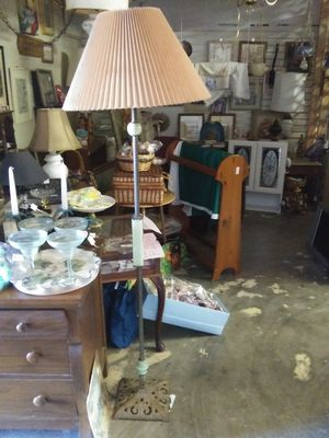 Vintage jade marble pole lamp for Sale in Pinellas Park, FL