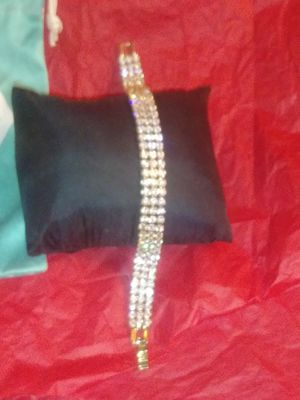 Triple Strand Quality CZ's Bracelet for Sale in Beaumont, TX