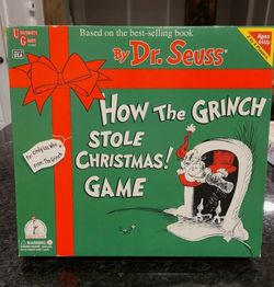Dr. Seuss How The Grinch Stole Christmas Board Game 2000 for Sale in Johnston,  RI