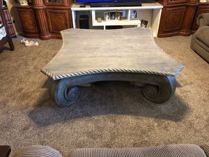 Rustic handcarved large coffee table for Sale in Gilbert, AZ
