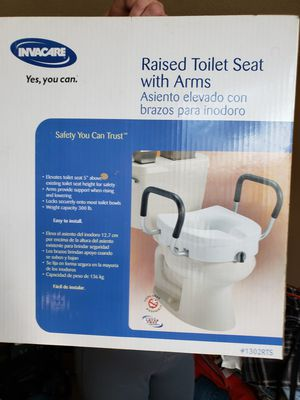 Invacare raised toilet seat with arms for Sale in Corona, CA