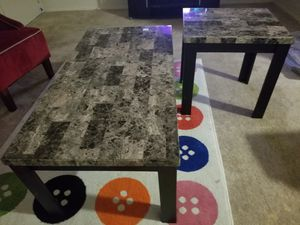 coffee and end tables. Marble wooded for Sale in Woodlawn, MD