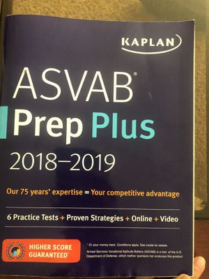 ASVAB PREP PLUS book for Sale in Chula Vista, CA