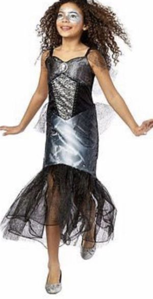 Halloween Skeleton Mermaid Princess Dress Costume Size Large 10-12 for Sale in Alexandria, VA