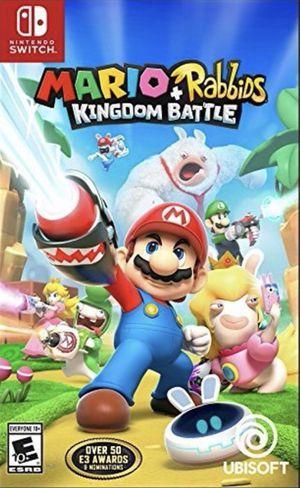 Mario Plus Rabbids Kingdom Battle Nintendo switch no booklet Condition Like new for Sale in Garner, NC