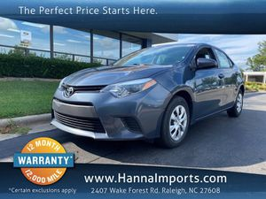 2016 Toyota Corolla for Sale in Raleigh, NC