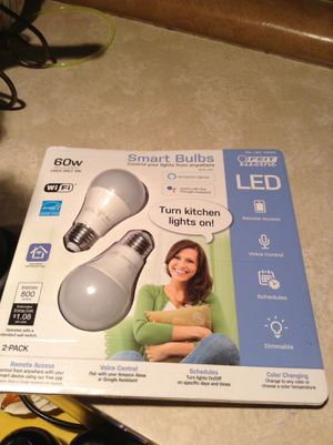 Set of 2 Smart Alexa/ Google Light Bulbs can also Change Color $25 for Sale in Midlothian, IL