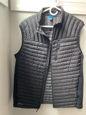 Eddie Bauer Men's Large Tall Black Down Vest for Sale in Apex, NC