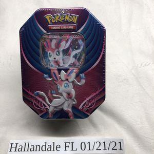 Factory sealed Pokemon TCG Evolution Celebration Tin Sylveon Glaceon or Leafeon for Sale in Hallandale Beach, FL