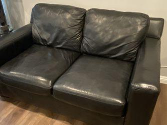 Black Leather Sofa & Loveseat for Sale in Cerritos,  CA