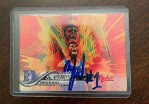 Zion Williamson Certified Signed Rookie Mint Promo Card With COA $200 Pick Up $210 Shipped through cash app or pay pal for Sale in Claremont, CA