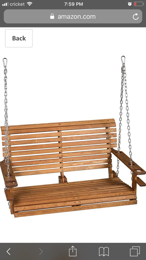 Brand new out-of-the-box wooden porch swing