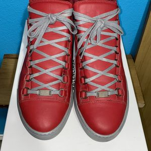 Balenciaga ARENAS Red & Gray High Top Mens size EU 42/ US9 Fit like US10.5 for Sale in Dallas, TX
