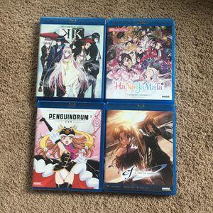 Bundle of 4 Anime Blu-Ray dvd movies for Sale in Tacoma, WA