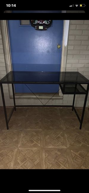 Nice like new glass top desk! for Sale in Asheboro, NC