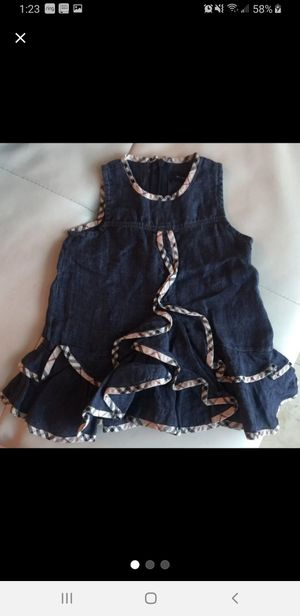 burberry demin ruffle dress for Sale in Lawrenceville, GA