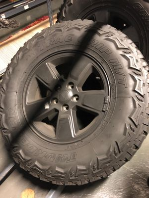 Thunderer Trac Grip M/T Tires On Black Rims for Sale in Winter Garden, FL