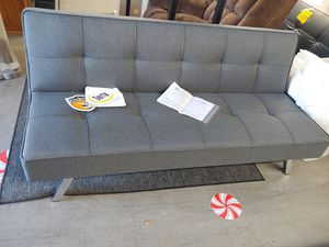 Beautiful grey futon sofa by Serta memory foam 3-position $179.99 for Sale in Phoenix, AZ