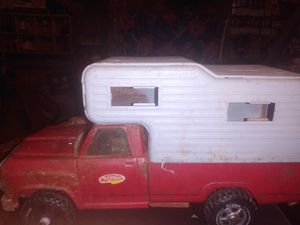 Tonkas pick up with camper for Sale in San Marcos, TX