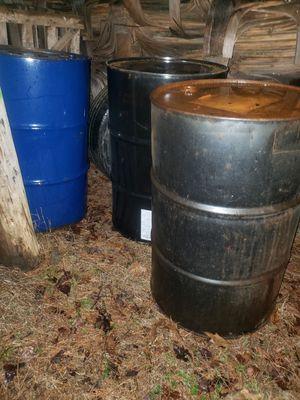 55gal metal barrels for Sale in Linwood, NC