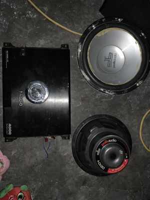 Car Audio subs and amp for Sale in Dallas, TX