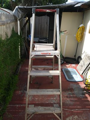 10 foot long. But 6 foot to climb aluminim ladder for Sale in Tampa, FL