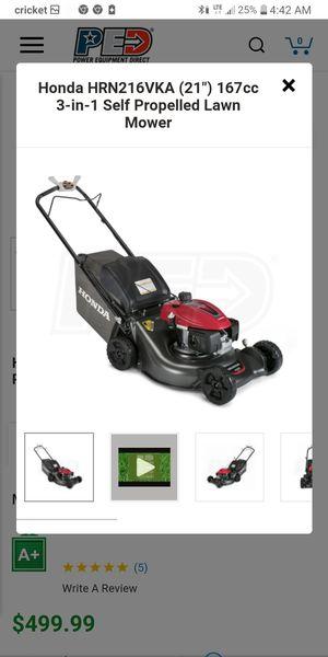 Honda lawn mower for Sale in Washington, DC