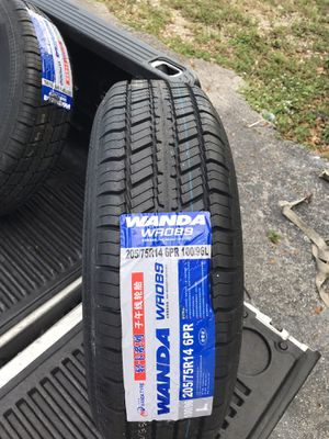 Trailer Mania has got brand new 205-75-14inch radial trailer tires on 5-lug rims. $85/each for Sale in Fort Lauderdale, FL