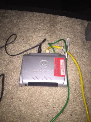 Motorola modem for Sale in Dallas, TX
