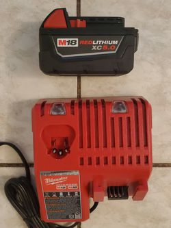 Milwaukee 5.0 Battery And Charger FIRM for Sale in Norwalk,  CA