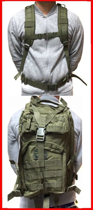 Brand NEW! Olive Green Tactical Molle Backpack For Traveling/Everyday Use/Work/Biking/Hiking/Camping/Gifts $25 for Sale in Carson, CA