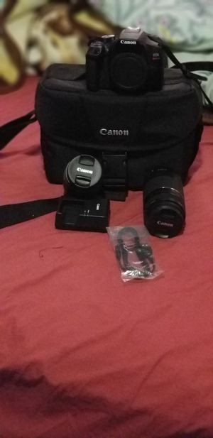Canon rebel t6 with a full kit and 2 lenses for Sale in Boston, MA
