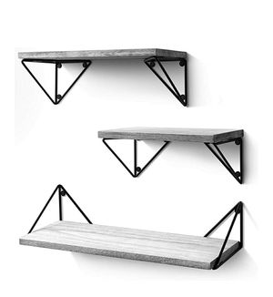 Rustic, Floating Shelves Set of 3 ((Wall Mounted)) for Living Room, Bedroom, Bathroom Gray for Sale in Calabasas, CA