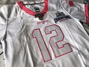 WOMEN #12 Brady New England Patriots CHAMPION patch edition jersey Medium & Large for Sale in Waterbury, CT