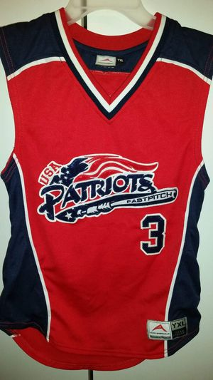 Patriots Patton youth extra large sleeveless Jersey. PRICE REDUCED AGAIN for Sale in BELLEAIR BLF, FL