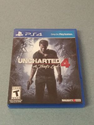 PS4 Video game Uncharted 4 A Thief's End, Complete & Like New Condition for Sale in New Port Richey, FL