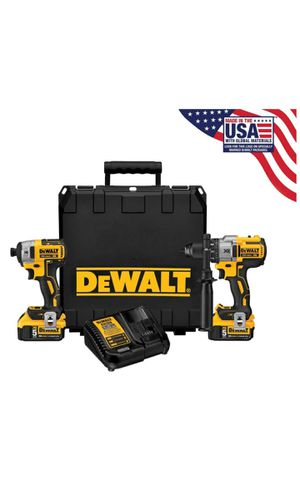 DEWALT 20-Volt MAX XR Lithium-Ion Cordless Brushless Hammer Drill/Impact Combo Kit (2-Tool) with 2 Batteries 4 Ah and Charger for Sale in San Bernardino, CA