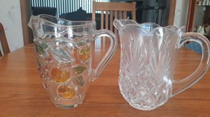Glass pitchers sold together for $25 or $15 each for Sale in Burlington, MA