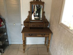 Antique makeup mirror, desk or dresser. for Sale in Spring Hill, FL