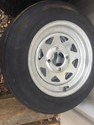 4.8x12 new trailer tires. 4 or 5 lug for Sale in Plumsted Township, NJ