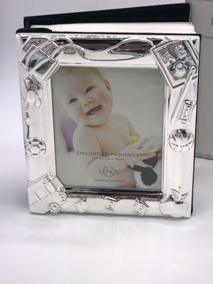 LENOX Silver Plate Metal Photo Album Picture Frame Front Baby Shower Gift BRAND NEW for Sale for sale  Fort Myers, FL