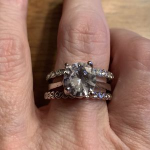 New 3 Piece CZ Silver wedding Ring Size 10 for Sale in Palatine, IL