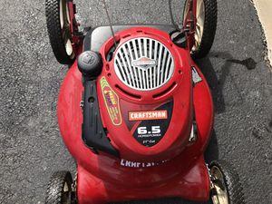 """Craftsman 6.5 HP 21"""" cut lawnmower for Sale in Eldersburg, MD"""
