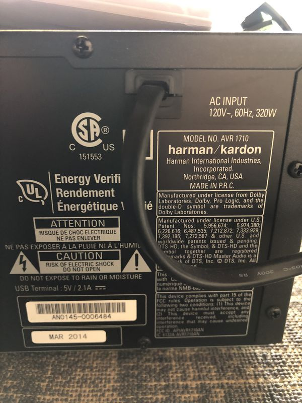 Harmon Kardon AVR 1710 Stereo Receiver OBO