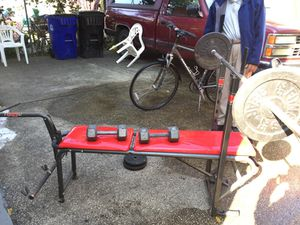 Home gym weight lift set for Sale in Cleveland, OH