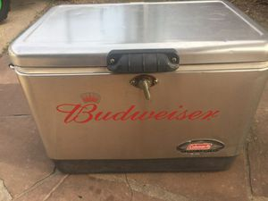 Budweiser Coleman cooler for Sale in Friendswood, TX