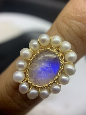 Moonstone pearl adjustable ring for Sale in San Diego, CA