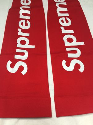 Red supreme shooter sleeves for Sale in Malden, MA