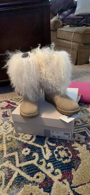 New Authentic Uggs Australia Lida Mongolian Hair Boots for Sale in Upper Marlboro, MD