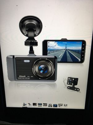 """dash cam camera for cars with night vision and parking dash cam fornt and rear dual camera with 4""""ips screens 1080P full HD 170 wide for Sale in Rowland Heights, CA"""